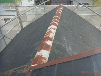 熊本市東区〇様家の屋根塗装前。錆の発生。