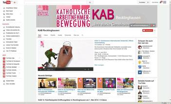 Der Youtubekanal der KAB