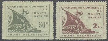 Timbres édités par la chambre de commerce