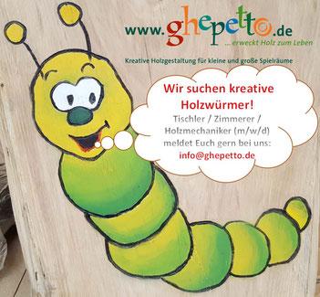 ghepetto Spielplatzausstatter Stellenausschreibung Tischler Zimmerer mwd