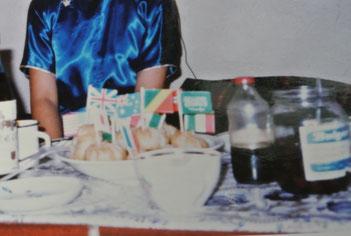 誕生日に同室のモンゴル人が作ってくれたボーズ(1985年11月)