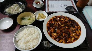天府仙臺 麻婆豆腐定食 水餃子