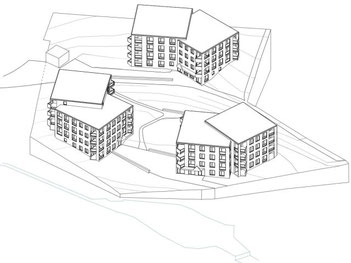 "Projekt ""Oehliweiher"" in Gossau. Illustration: JOM Architekten Zürich"