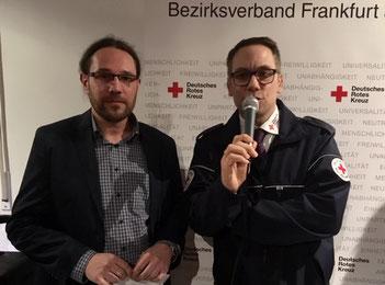 Dierk Dallwitz (re.) und Thomas Sprinkart, beide DRK Frankfurt