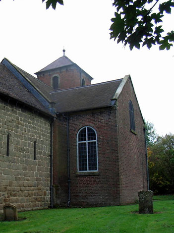 The Botfields' north aisle was designed in a simple neo-classical style to match the 18th-century building