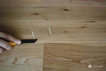 アンドウッド 補修 盛り上がり 単板貼 フローリング andwood 5