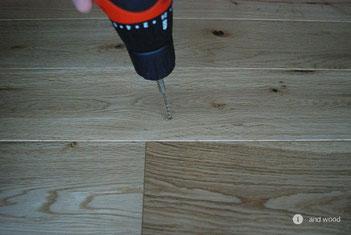 アンドウッド 補修 盛り上がり 単板貼 フローリング andwood