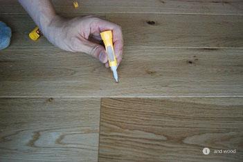 アンドウッド 補修 盛り上がり 単板貼 フローリング andwood 2