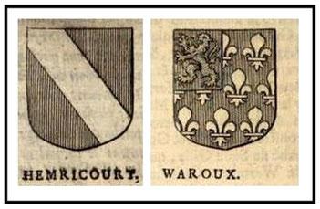 """Extraits de l'ouvrage """"Miroir des nobles de Hasbaye, composée en forme de chronique..."""" par Jacques DE HEMRICOURT, 1673"""