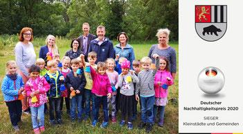 """Auch die Kinder und Erzieherinnen des Familienzentrums """"Blauland"""" in Raumland wurden bereist."""