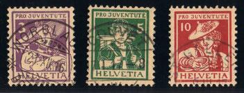 J 4 - 6    Mi.Nr.:130 - 132