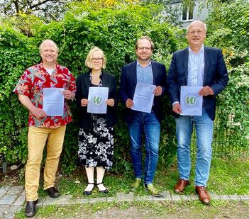 v.l.: Paul Holstein, Julia Dettmer, Kai Elmendorf, Matthias Ederhof