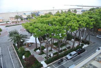 Blick vom Hotel Cristallo in Giulianova