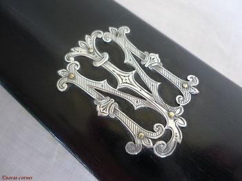 Antike Silber Kleiderbürste aus England