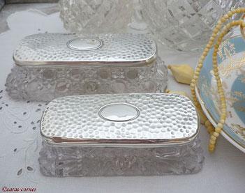 Sterling Silber Bürsten und Spiegel Set aus England