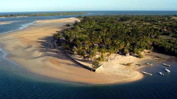 Vista baia Isola di Manda-Kenya