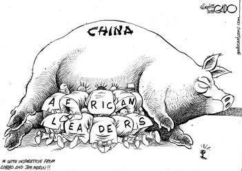 Vignetta di Gado sul Nation. Come la corruzione cinese ingrassa la leadership del Kenya