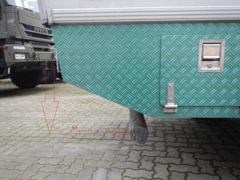 Nicht zugelassener Unterfahrschutz auf Bimobil EX 345