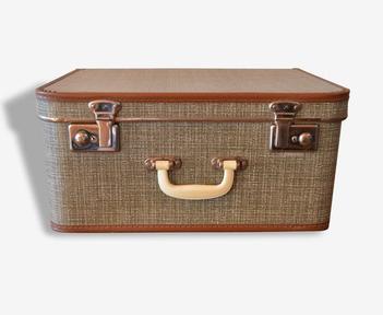 old cardboard trunk