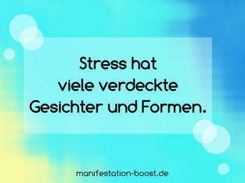 Stress hat viele verdeckte Gesichter und Formen.
