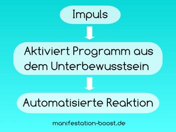 Impuls-Aktiviert Programm aus dem Unterbewusstsein - automatisierte Reaktion