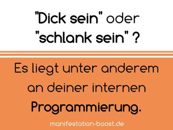 Dick sein oder schlank sein? Es liegt unter anderem an deiner internen Programmierung.