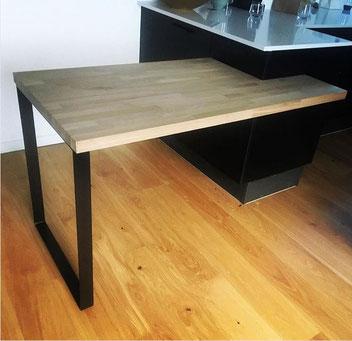 pied de table pour cuisine coloris noir