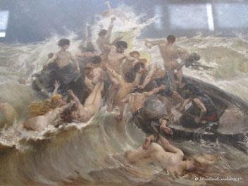 La lutte pour la vie, 1893, Henry-Eugène DELACROIX, à ne pas confondre avec le célèbre Eugène DELACROIX
