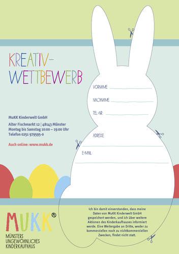 Image Design. Für den Kunden MuKK. Kreativwettbewerb zu Ostern, Westfälischen Nachrichten. Von Funkenflug Design Münster.