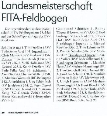 Artikel - LM Feld/ Feld 2005 in Merkwitz