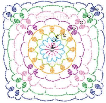 Bolero de primavera/verano tejido a crochet con 10 grannys!