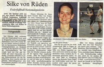 Wuppertaler Rundschau Bericht vom 23.04.2003