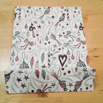 papiertuete falten, unterer rand, kathrins papier