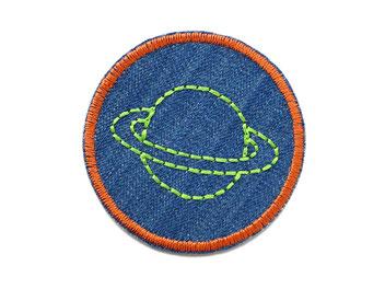 Bild: Hosenflicken Flicken Jeans Saturn Planet