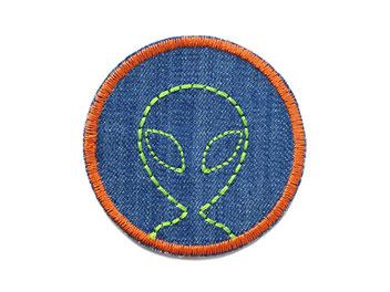 Bild: Hosenflicken Flicken Jeans Alien