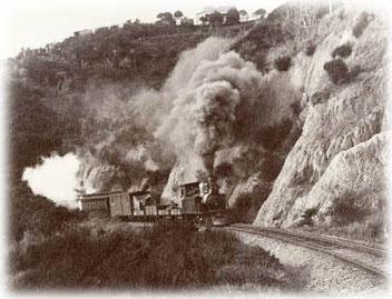 Frühe Eisenbahn in Neuseeland (Quelle: folksong.org.nz)