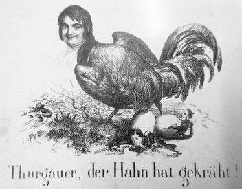Karikatur zum Zitat Bornhausers