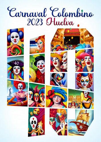 Cartel del Carnaval Colombino de Huelva