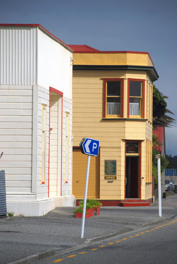 The old Gold Office Bank, Hokitika.