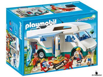 """Bei der Bestellung im Onlineshop der-Wegweiser erhalten Sie das Playmobil Paket 6671 """"Familien-Wohnmobil""""."""