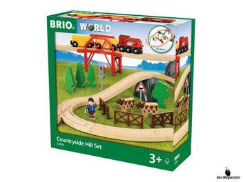 """Bei der Bestellung im Onlineshop der-Wegweiser erhalten Sie das Holzeisenbahnset """"Landleben"""" 36-teilig vom Hersteller Brio."""
