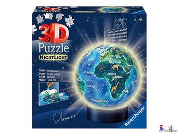 Bei der Bestellung im Onlineshop der-Wegweiser erhalten Sie das Ravensburger Paket 11844 Nachtlicht Puzzle-Ball Erde bei Nacht.