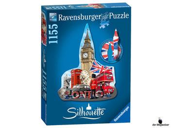 """Bei der Bestellung im Onlineshop der-Wegweiser erhalten Sie das Ravensburger Paket 16155  """"Silhouette Big Ben"""", 1155tlg."""