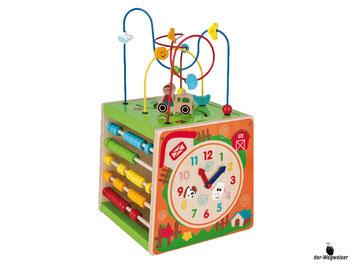 Im Paket Eichhorn ist ein Würfelförmiges Spielcenter mit der Grösse von 31x31x31cm enthalten.