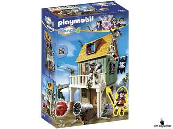 """Bei der Bestellung im Onlineshop der-Wegweiser erhalten Sie das Playmobil Paket 4796 """"Getarnte Piratenfestung""""."""