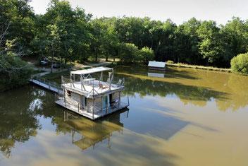 cabane sur l'eau aquitaine