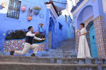 モロッコ青い街シャウエンにてウェディングフォト体験/La belle chaouen(ラベルシャウエン)Mikaのブログ