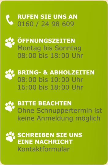 Franks-Hundeherberge - Öffnungszeiten und Kontaktformular