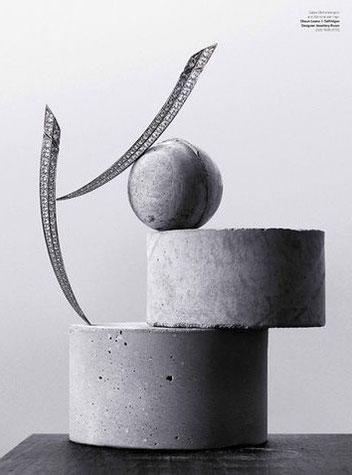 WYLDE MAGAZINE and PASiNGA Geometric Concrete Sculptures, Photographer David Newton, Stylist Bettina Vetter