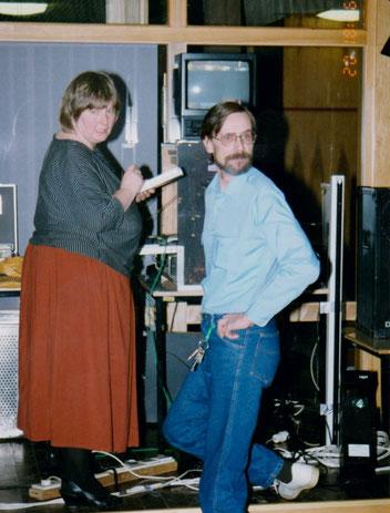 Disko mit Ulrike 1993